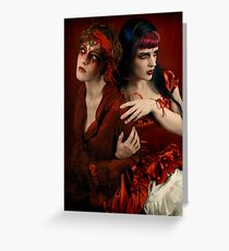 Alice and the Queen of Hearts Greeting Card
