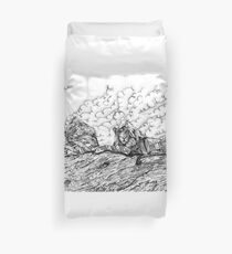 Disappearing Giants - Lions Duvet Cover
