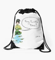 Toph as an Airbender Drawstring Bag