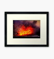Kilauea Volcano at Kalapana 9 Framed Print