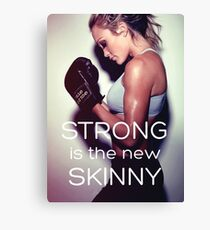 Women's Fitness Inspirational Workout Quote Canvas Print