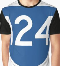 Australian State Route 124 | Australia Highway Shield Sign Graphic T-Shirt