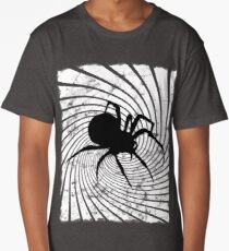 Spider, Spiral. Halloween, Everyday, Graphic Design. Long T-Shirt