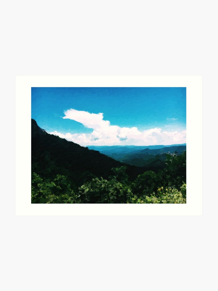 Mountain Painting - Devil's Courthouse, NC | Art Print