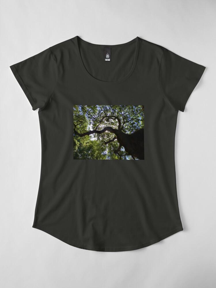 Alternate view of Reaching Towards the Heavens Premium Scoop T-Shirt