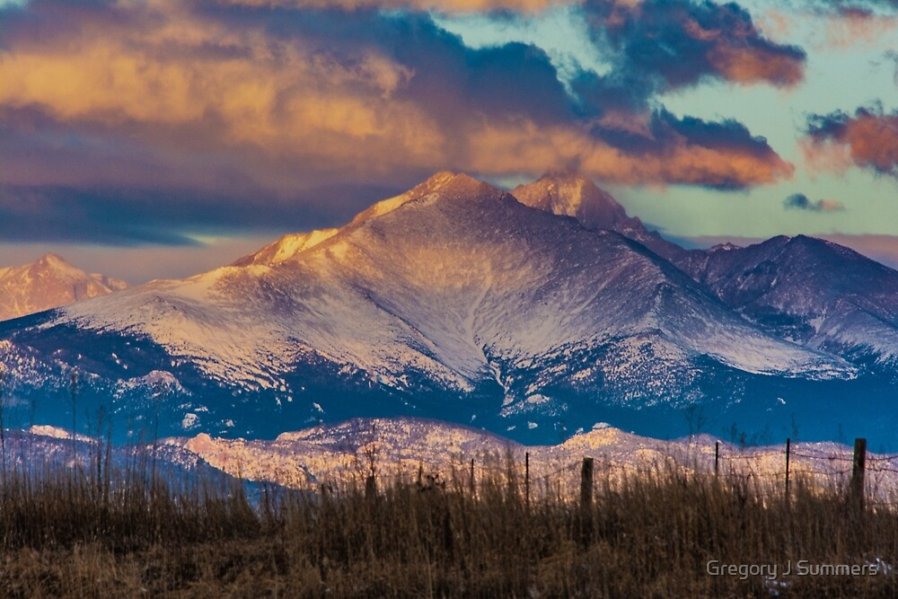 Mt Meeker and Longs Peak Sunrise by Gregory J Summers