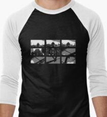 Crossing The Bridge into The Abstract - Black Men's Baseball ¾ T-Shirt