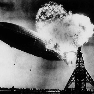 Hindenburg Disaster - Zeppelin Explosion by warishellstore