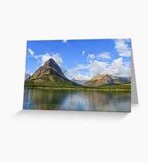 Glacier National Park, Montana, Mountain Scene Greeting Card
