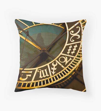 The Prague Astronomical Clock Throw Pillow