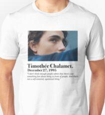 Timothée Chalamet Minimal bio Unisex T-Shirt