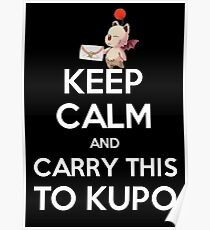 FF9 - Keep Calm and Carry This to Kupo Poster