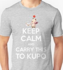 FF9 - Keep Calm and Carry This to Kupo T-Shirt