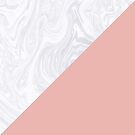 Rose Gold and White Marble by julieerindesign