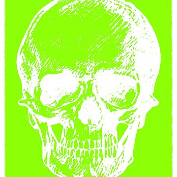 Halloween Skull, Green Bones. Boo! Graphic T-Shirt  by kevinobrien