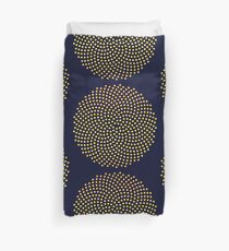 Sunflower Seed Fibonacci Spiral, Golden Ratio, Mathematics, Geometry Duvet Cover