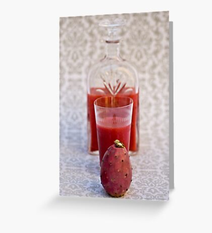 Prickly Pear Drink Greeting Card