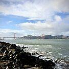 Golden Gate Bridge Afar by justminting