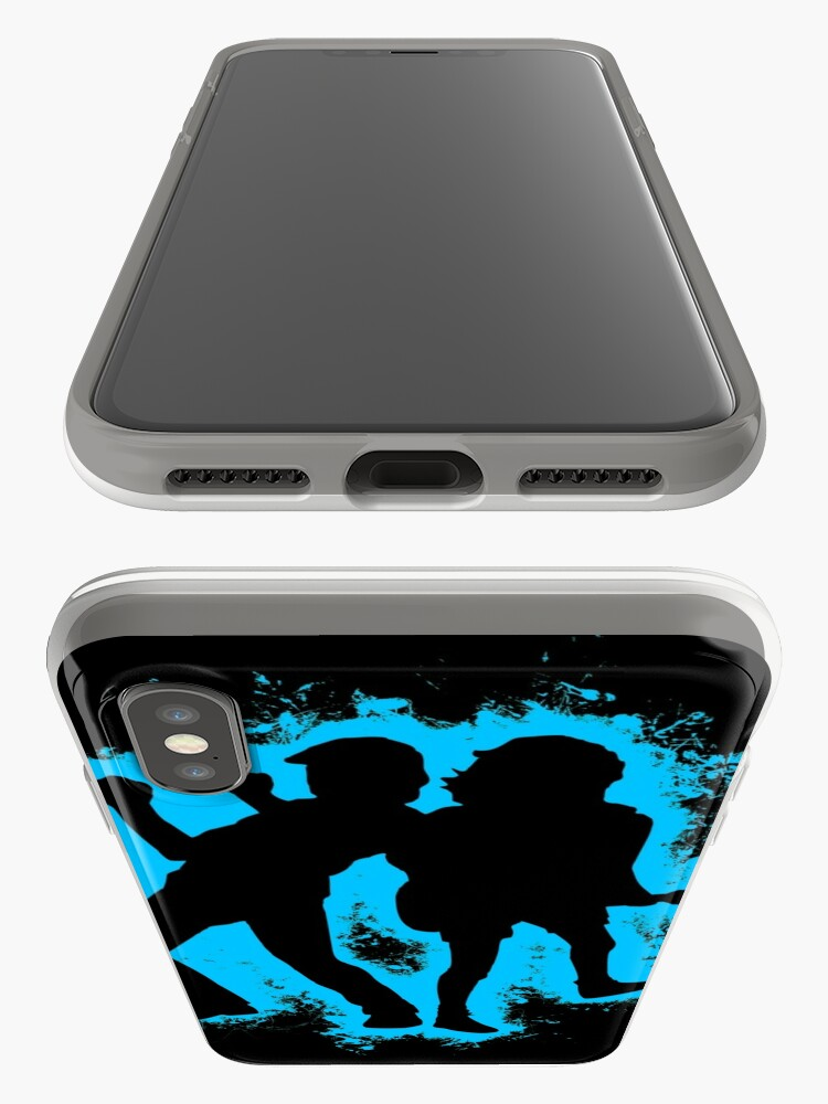 Alternate view of Musicians concert lightblue and black silhouette iPhone Case & Cover