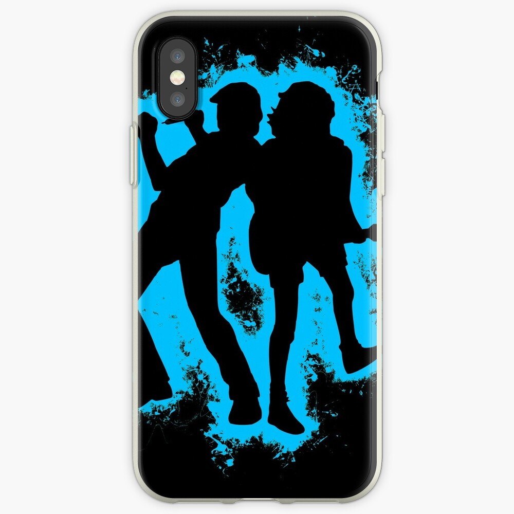 Musicians concert lightblue and black silhouette iPhone Case & Cover