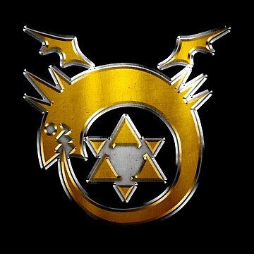 Fullmetal Alchemist Homunuculus Ouroboros Symbol by huckblade