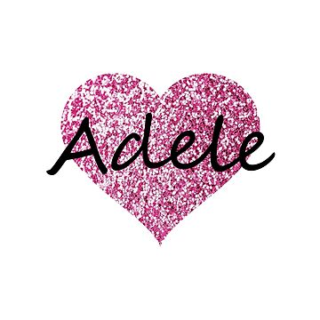 Adele Pink Heart by Obercostyle