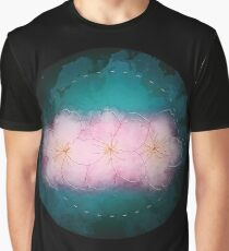Zen Cherry Flowers - Dark Graphic T-Shirt
