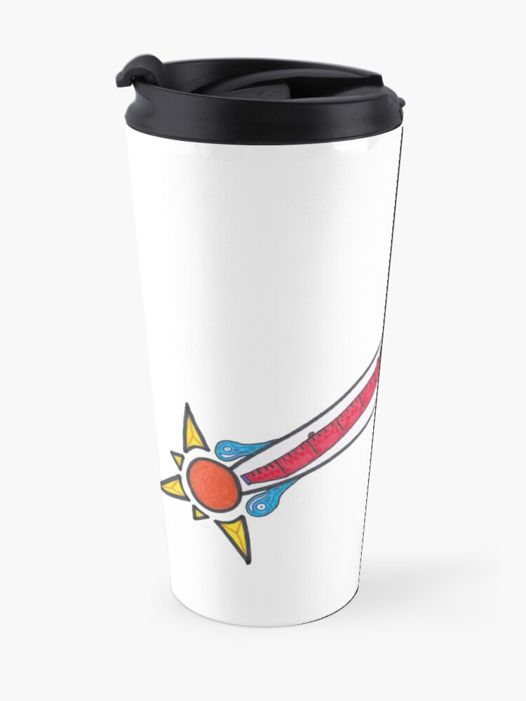 Alternate view of Merch #21 -- Thermometer Exclamation Travel Mug