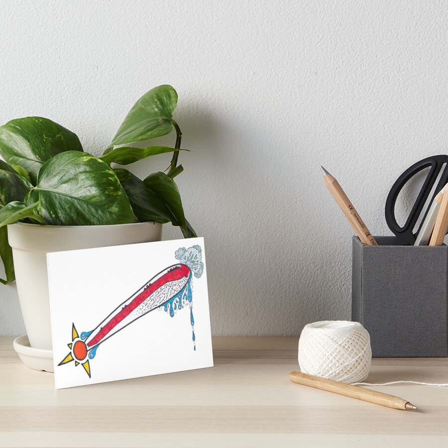 Merch #21 -- Thermometer Exclamation Art Board Print