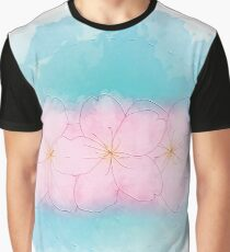 Zen Cherry Flowers - Light Graphic T-Shirt