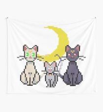 Pixel Artemis Luna and Diana Wall Tapestry