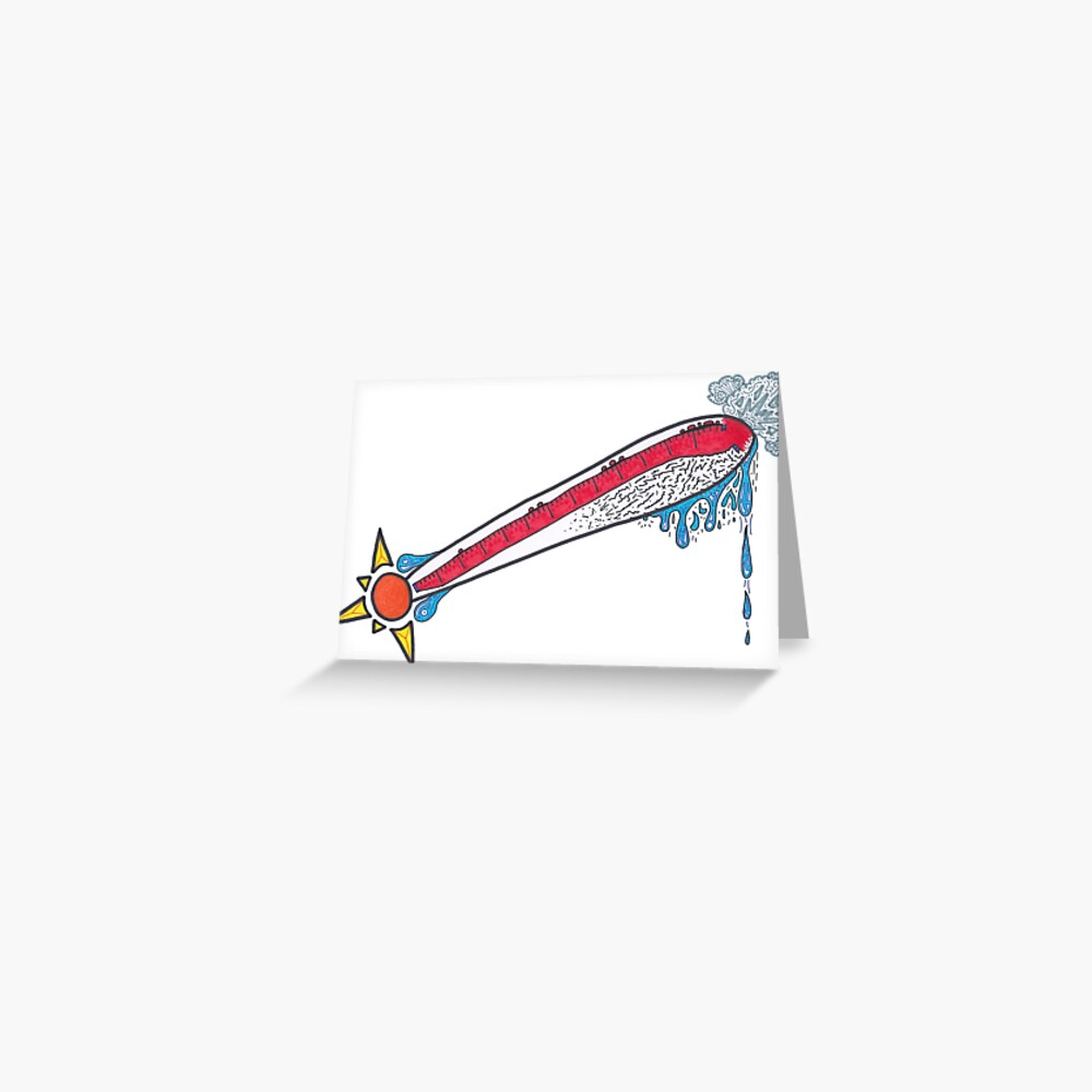 Merch #21 -- Thermometer Exclamation Greeting Card