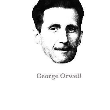 George Orwell novelist writer gift t shirt by Johannesart