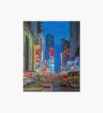 Times Square (Broadway) Art Board Print