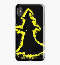 Evil halloween yellow and black silhouette iPhone Case
