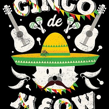 Cinco de Mayo Cat Toddler Cinco de Meow Kitten by TheLariat