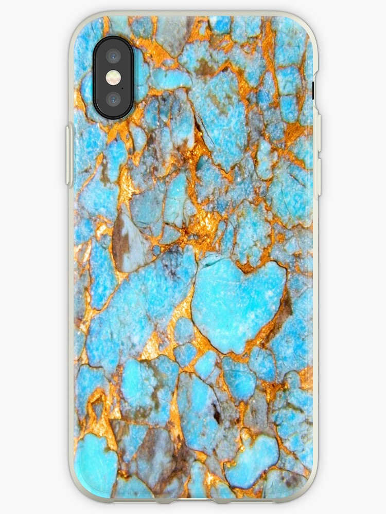 Turquoise and Gold iPhone / Samsung Galaxy Case by Tucoshoppe