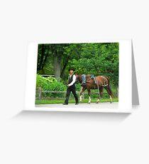 Amish Gentleman Greeting Card
