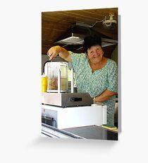 Frites Lady Greeting Card