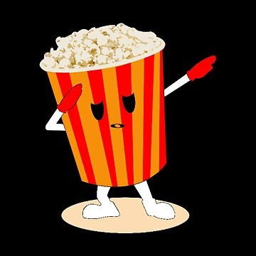 Dabbing Popcorn Bucket - Movie Theatre Snack Theme by stuch75