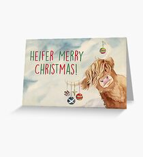 Heifer Merry Christmas! Greeting Card