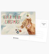 Färse Frohe Weihnachten! Postkarten