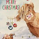 Heifer Merry Christmas! by Sarah  Mac Illustration