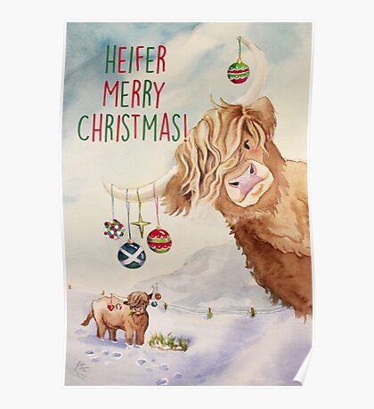 Heifer Merry Christmas! Poster