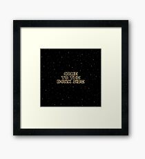 The Dork Side Framed Print