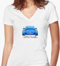 Last Manual - 997 Turbo (997.2) Inspired  Women's Fitted V-Neck T-Shirt