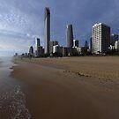 Surfers Paradise Just Before Sunrise. Gold Coast, Queensland, Australia by Ralph de Zilva