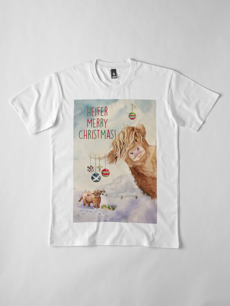 Alternate view of Heifer Merry Christmas! Premium T-Shirt