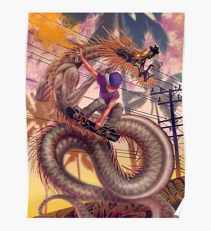 Dragon Skater Poster