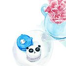 Bear and Panda Macarons by Rachel Davidson